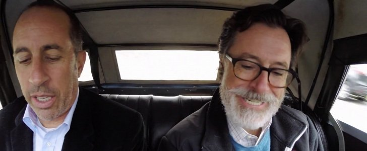stephen colbert is seinfeld s final guest of the season at comedians in cars getting coffee. Black Bedroom Furniture Sets. Home Design Ideas