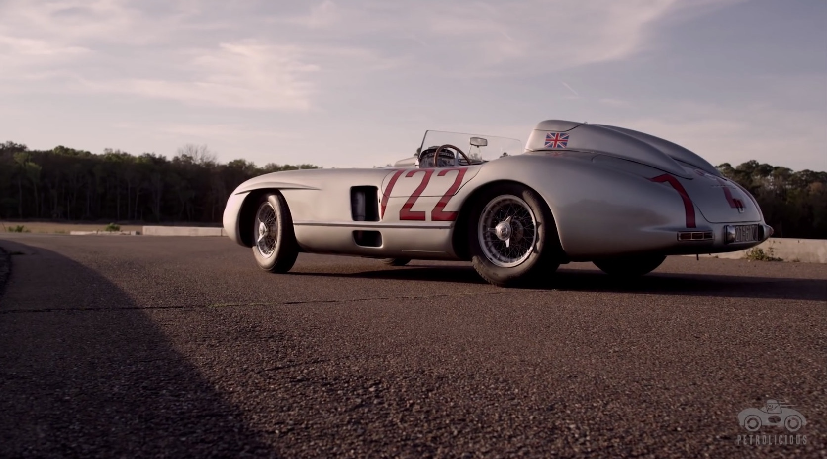 Stirling moss tells the story of winning mille miglia in for Mercedes benz 300 slr