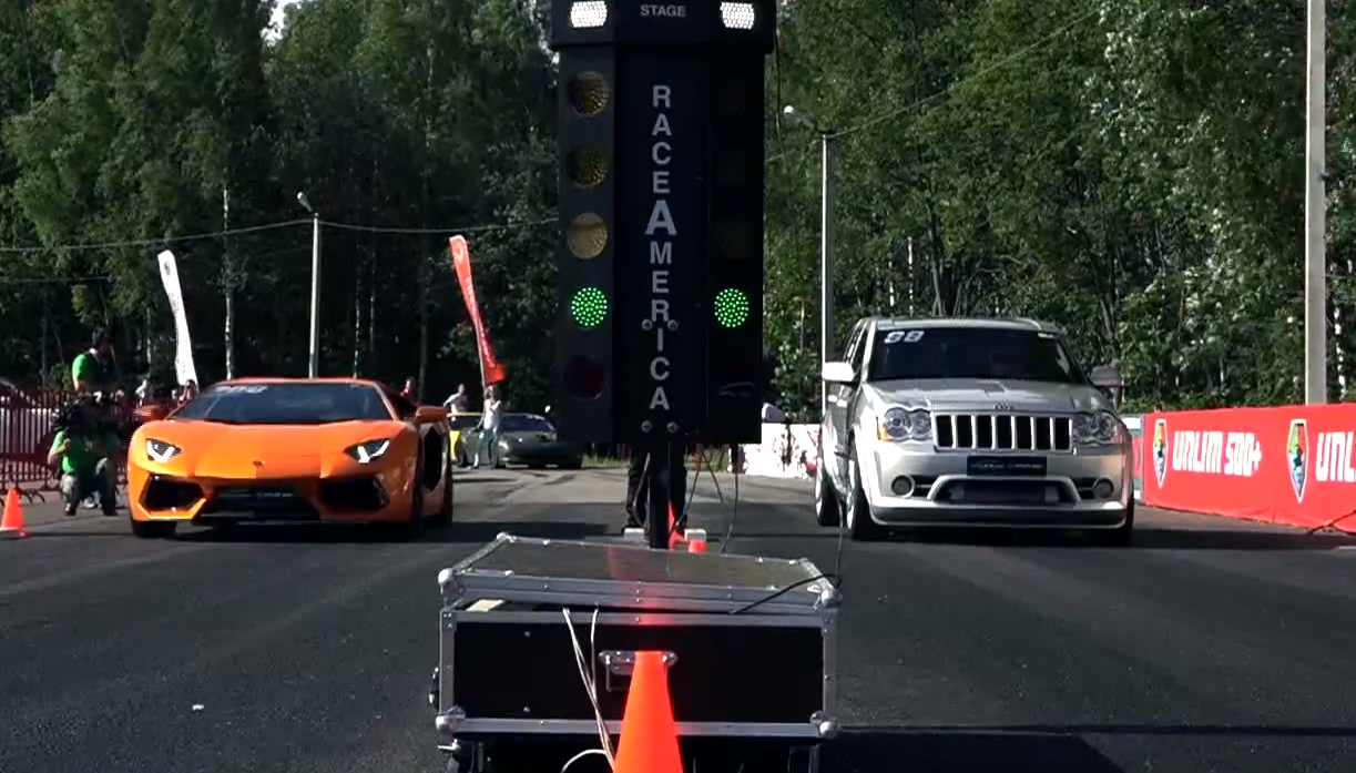 Stock Aventador Races 950 Hp Jeep Grand Cherokee Srt 8