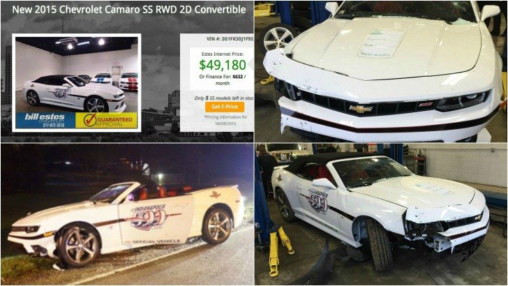 Stolen Indy 500 Chevrolet Camaro Driven Out The Dealership