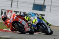 Stoner and Rossi Fighting for the Lead