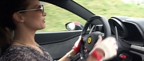 Hot Girl Street Racing Ferrari 458 Giggles All the Way [Video]
