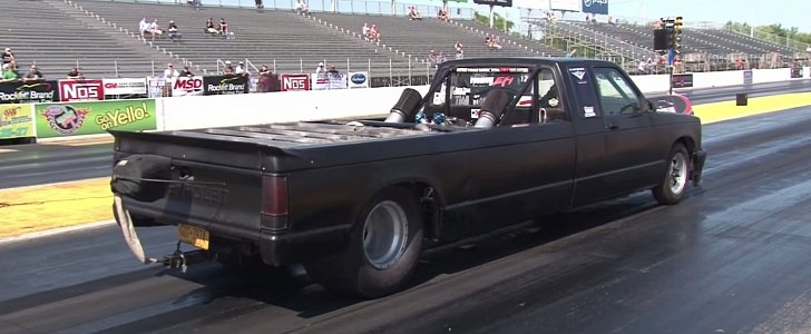 Stretched Chevy S10 Truck Has a Twin-Turbo Big Block in ...