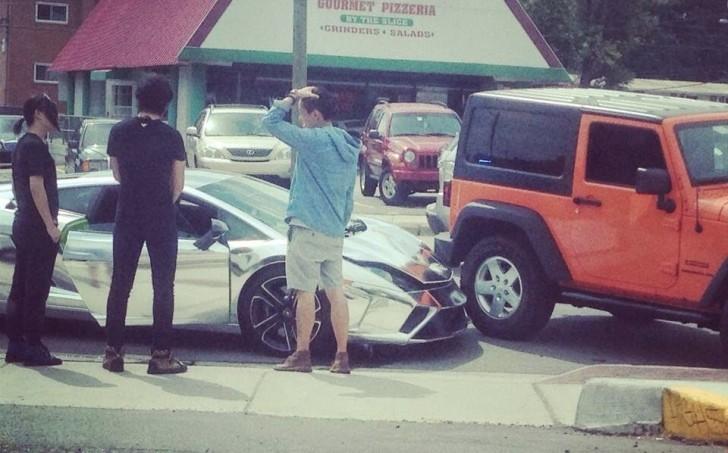 Student Driving Chrome Lamborghini To University Has A