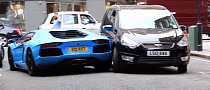 Stunning Blue Aventador Scrapes Agains a Ford While Reversing [Video]