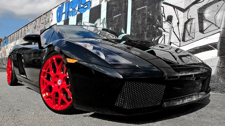 Stunning Lamborghini Gallardo on Red HRE Wheels [Photo Gallery]