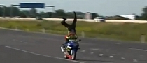 Stunt Rider Wrecks His GSX-R [Video]