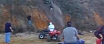Stupid ATV Rider with No Helmet Gets It Good [Video]