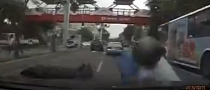 Stupid Scooter Rider Causes Bad Accident [Video]