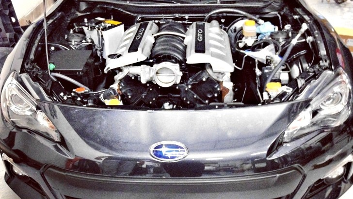 Subaru BRZ Gets V8 Power!