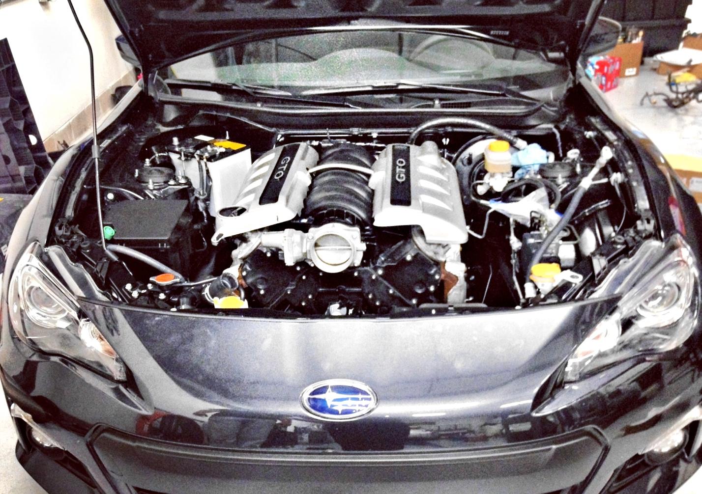 Subaru BRZ Gets V8 Power! - autoevolution