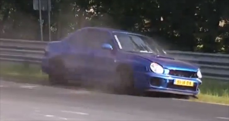 Subaru Impreza Has a Nasty Crash at the Nurburgring [Video]
