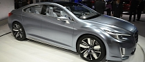 Subaru Legacy Concept Is Flashy in Los Angeles [Live Photos]
