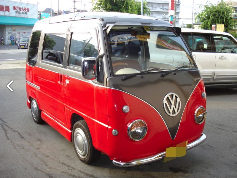 Subaru Sambar Conversion Looks Like A Vw Love Van For