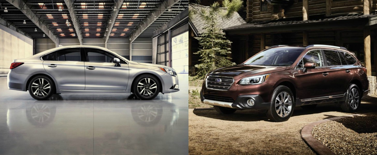 2017 Subaru Outback and 2017 Subaru Legacy