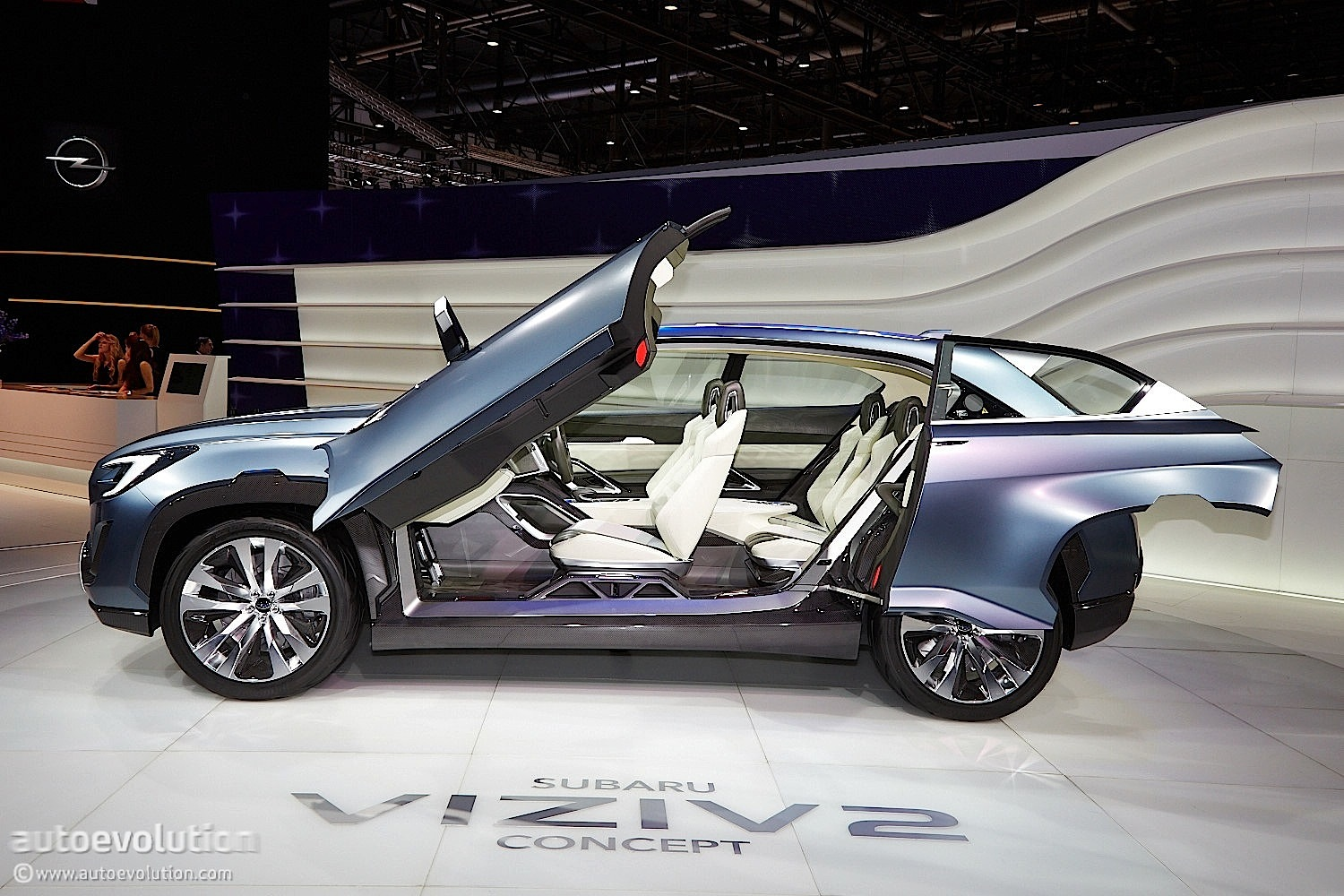 Subaru viziv 2 concept previews the future at geneva 2014 for Door motor for cars
