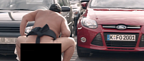 Sumo Wrestlers Promote Ford Focus Door Edge Protectors [Video]