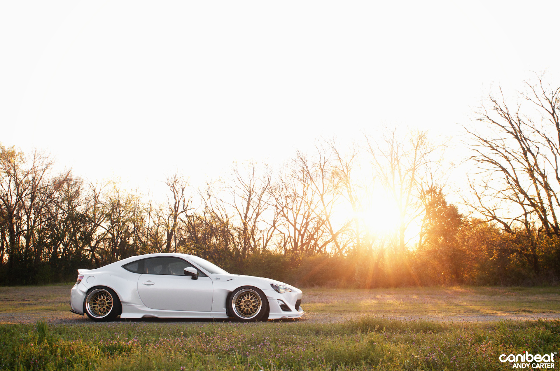 Sunset Light Gently Touching A Custom Toyota Gt 86