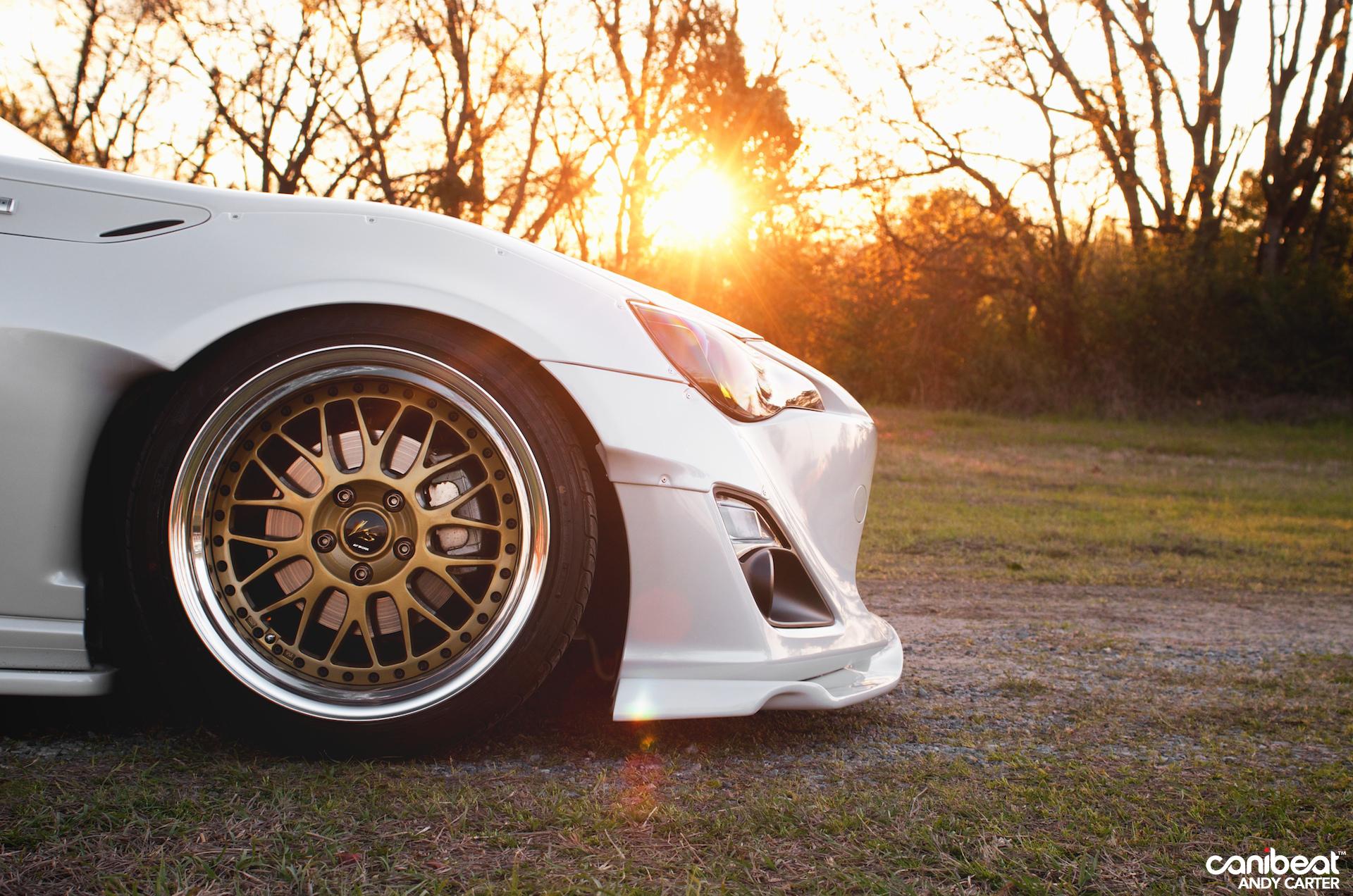 Sunset light gently touching a custom toyota gt 86 autoevolution