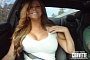 Super Hot Girl Takes a Scary Ride in a Cadillac CTS-V Coupe [Video]