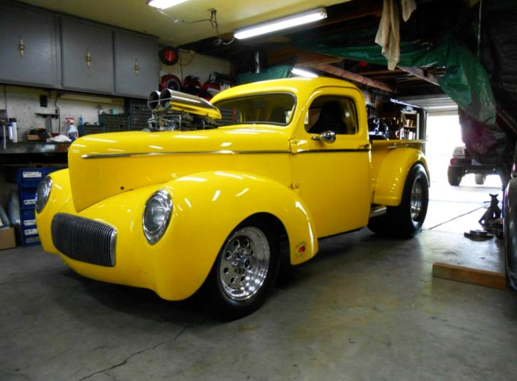 Supercharged 1942 Willys Pickup Gasser Shows Up on eBay