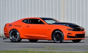 "Supercharged 2020 Chevrolet COPO Camaro ""Hugger Orange"" Heading to Auction"