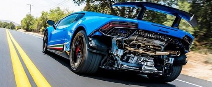 Supercharged Lamborghini Huracan Performante Flies On The