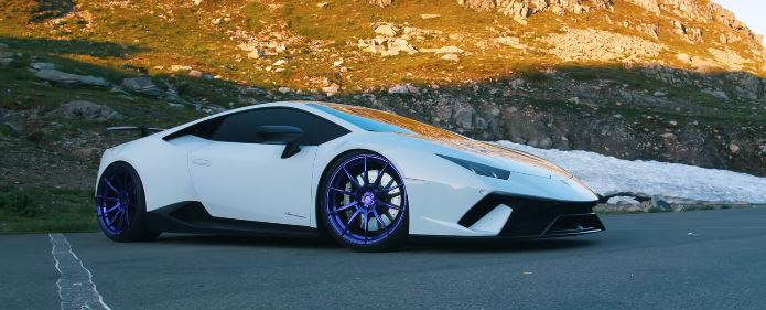 Supercharged Lamborghini Huracan Performante Rides On Purple Wheels