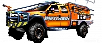 Superlift Suspensions 2012 Ford F-350 Matchbox Fire Truck Coming to SEMA