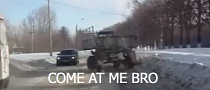 Surprise Trailer Attack in Russia [Video]