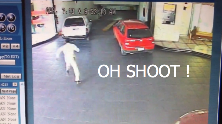 Surveillance Camera Catches Valet Crashing Client's Car [Video]