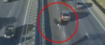 SUV Driver Causes Bike Crash on Highway [Video]