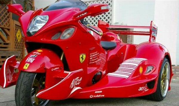 Suzuki Hayabusa Morphs Into Ferrari F1 Trike Autoevolution