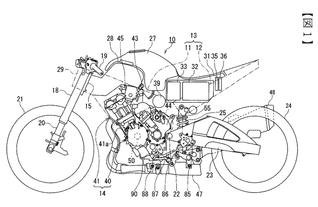 suzuki hybrid motorcycle patent shows up