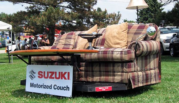 Suzuki Has Introduced Its Motorized Couch In The Kizashi Kicks Campaig