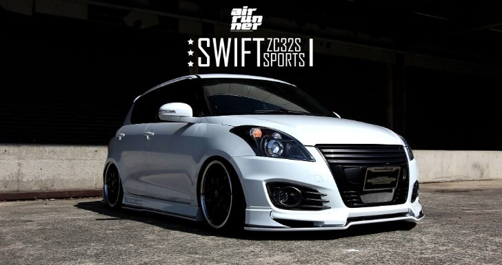 suzuki swift sport looks cool with beli kit and air ride suzuki swift custom suzuki swift black stance #12