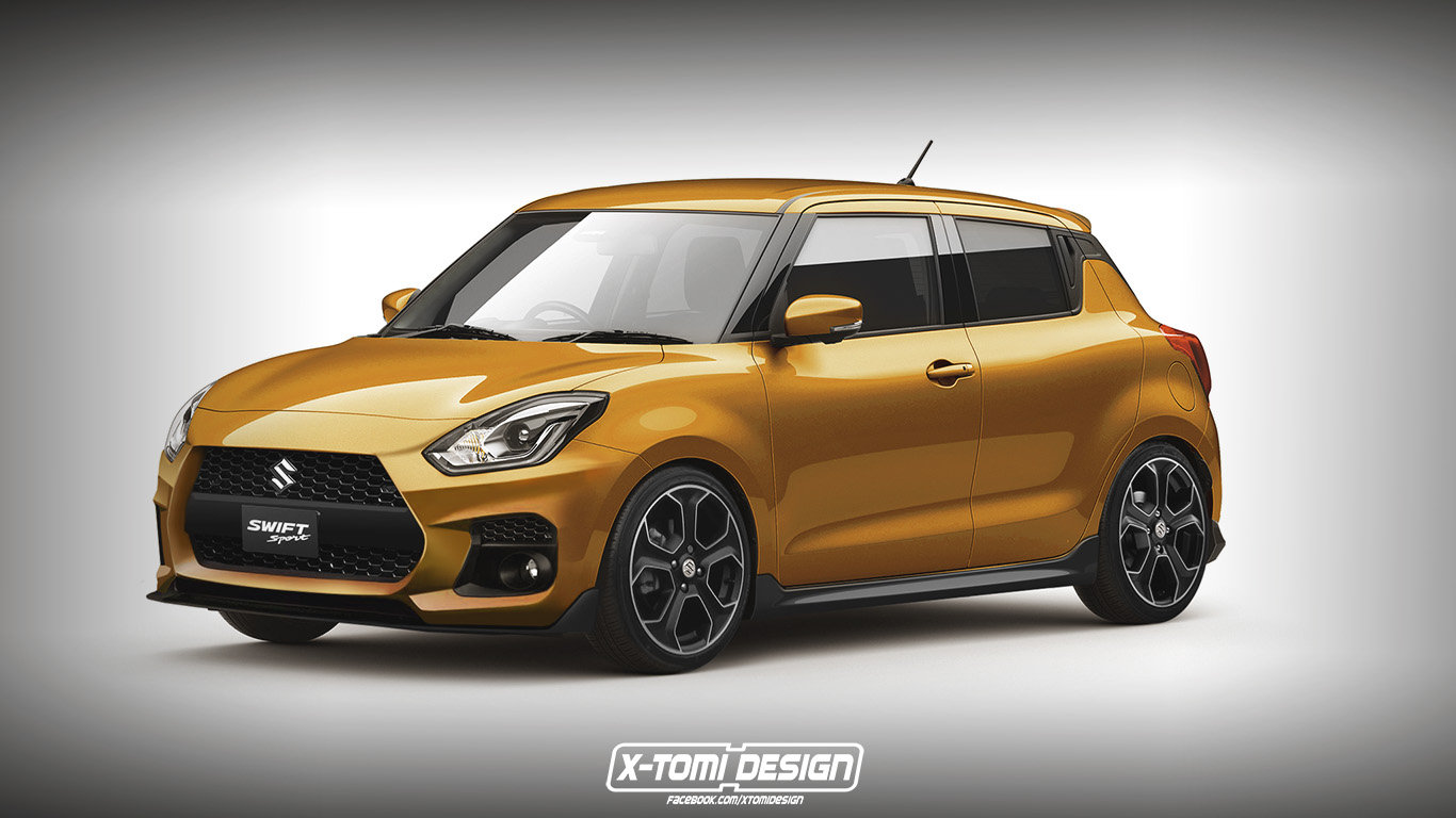 Suzuki Swift Sport Rendering Looks like the Perfect Affordable Hooning Machine - autoevolution
