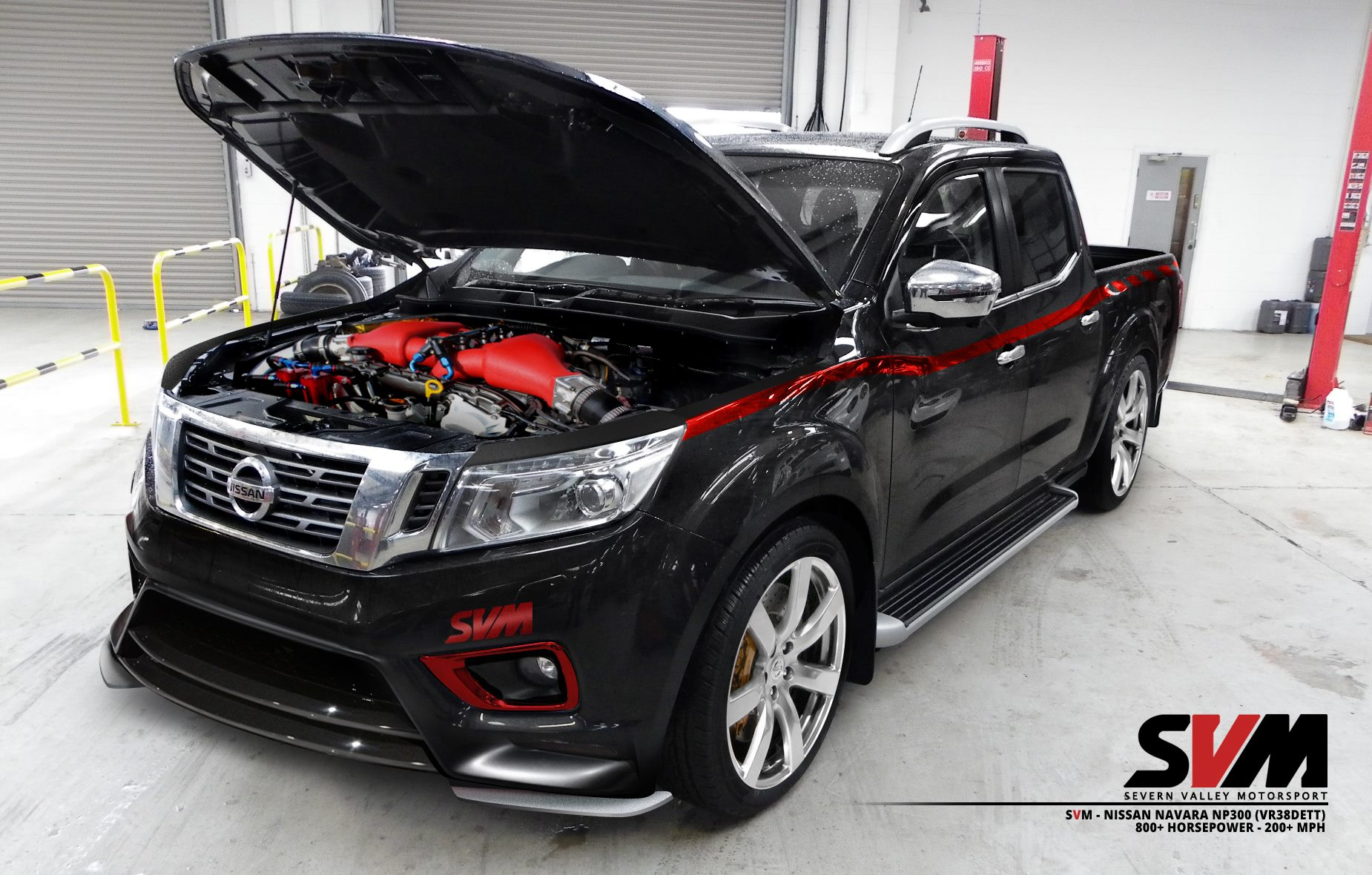 svm nissan navara np300 is powered by an 800 hp vr38dett. Black Bedroom Furniture Sets. Home Design Ideas