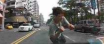 Taiwanese Pedestrian Fails at Faking Accident [Video]
