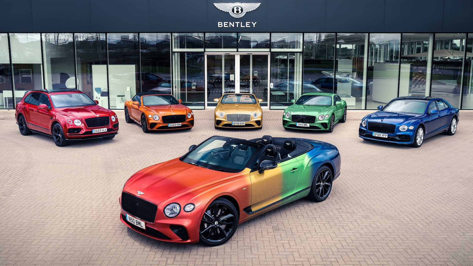 Taste The Rainbow And Be Proud Of Bentley S Colorful Continental Gt Convertible Autoevolution