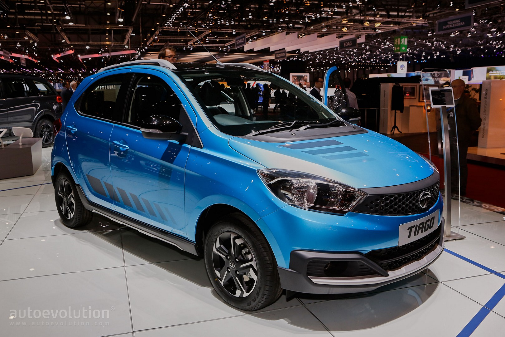 Tata Motors Presents Tiago Zica Kite 5 And Hexa At 2016 Geneva