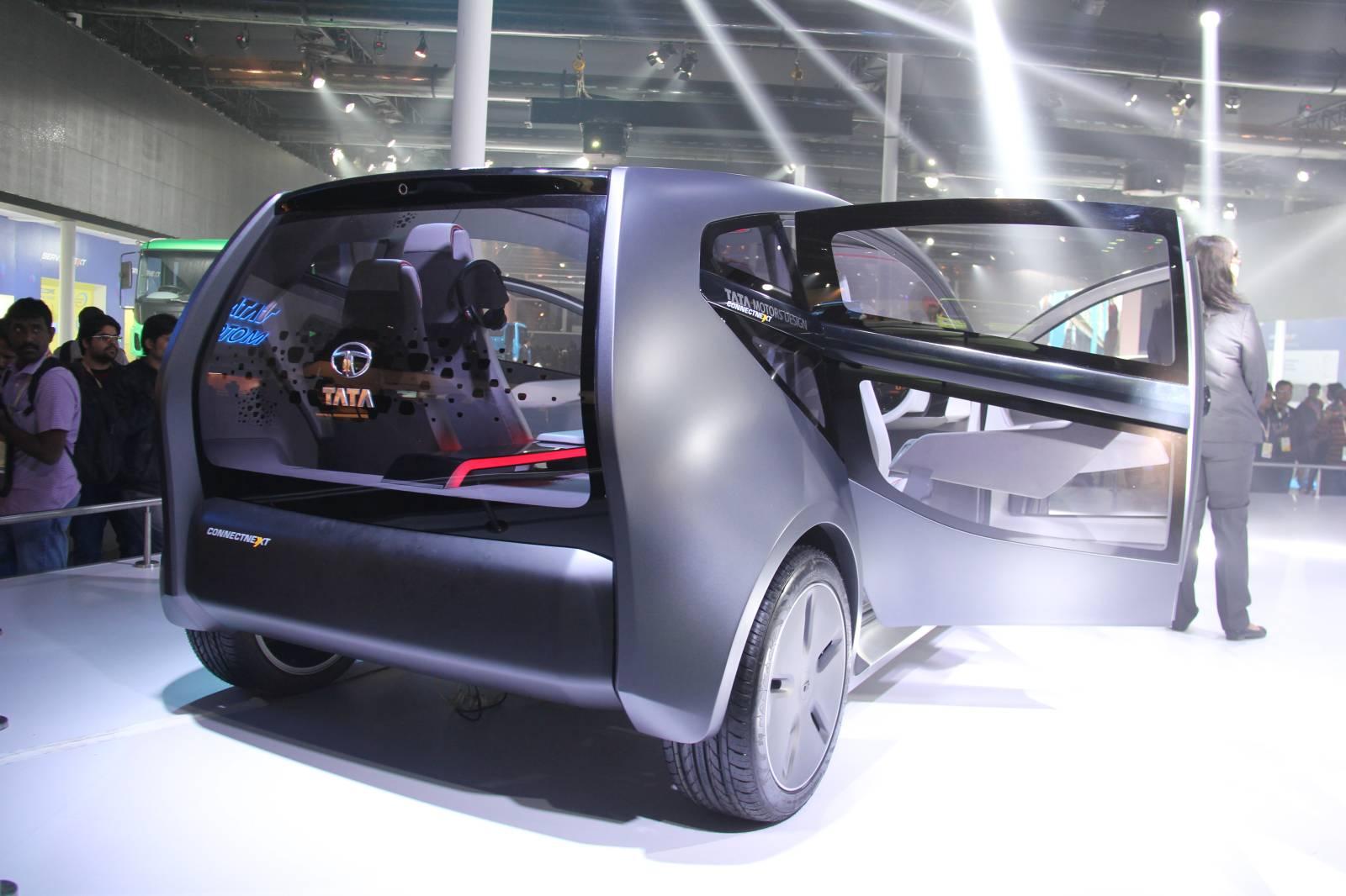 Tata motors reveals futuristic connectnext concept live for Tata motors future cars