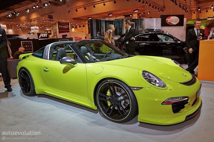 tuningcars techart porsche 911 targa makes essen 2014 a green show. Black Bedroom Furniture Sets. Home Design Ideas