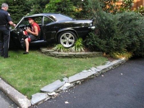 Kid Crashes Car