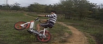 Teenager Stunt-Rides a Vespa Ciao Off-Road [Video]