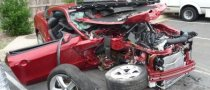 Teens Destroy a 2010 Mustang in Crash