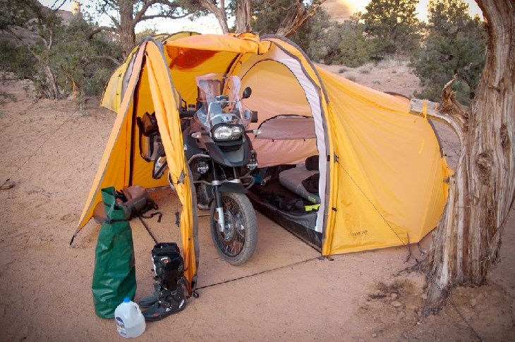 Tenere Motorcycle Expedition Tent Launched Autoevolution