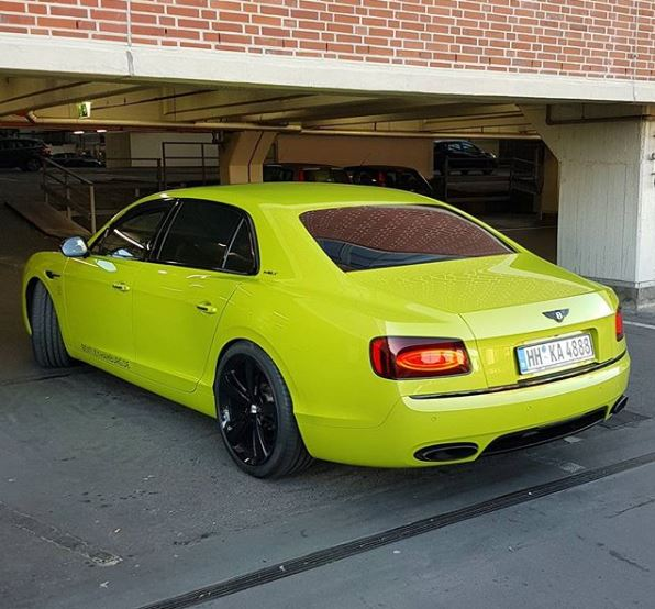 The Osbournes New Bentley Flying Spur: Tennis Ball Yellow Bentley Flying Spur Is Extrovert Luxury