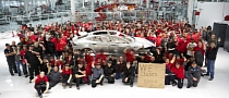 Tesla Celebrates Building of 1,000th Model S Frame