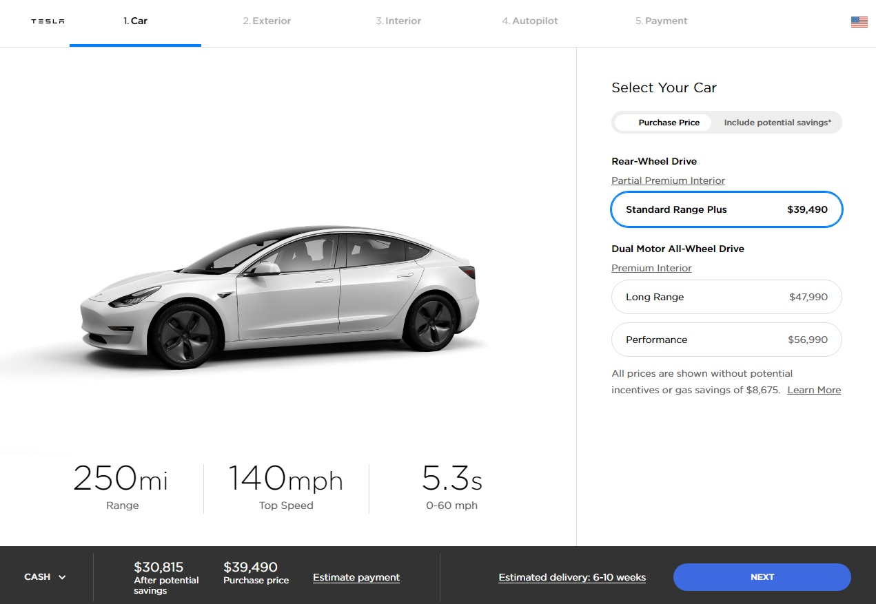 Tesla Model 3's Range Increased to Over 400 Km